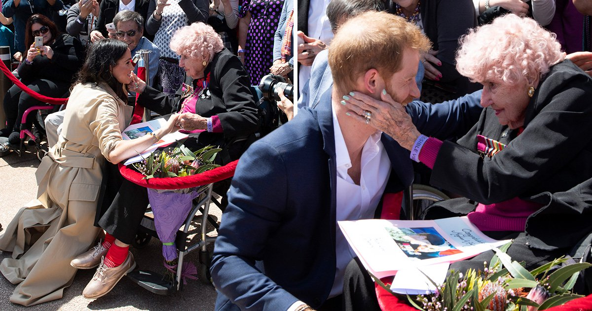 Prince Harry introduces Meghan to war widow, 98, he has met three times